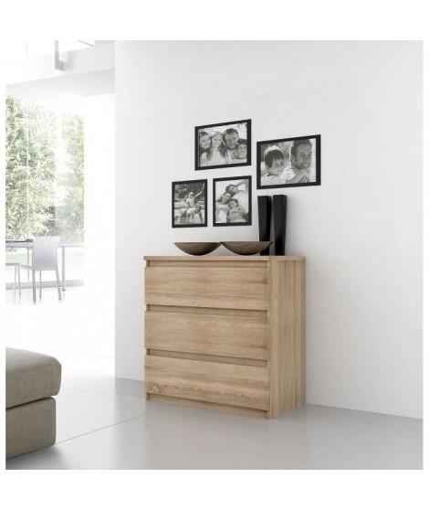 FINLANDEK Commode de chambre NATTI style contemporain décor chene - L 77,2 cm