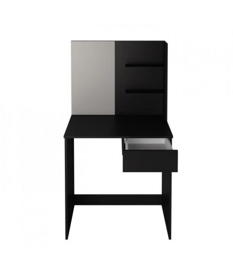 CLARA Coiffeuse style contemporain noir mat - L 75 cm