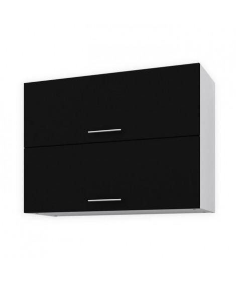 OBI Meuble haut de cuisine L 80 cm - Noir mat