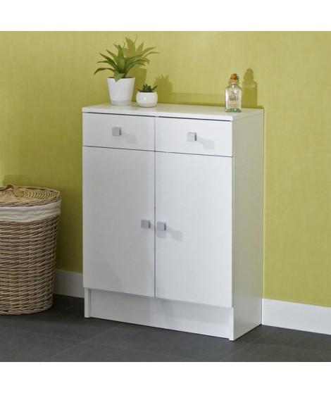 GALET Meuble de salle de bain L 60 cm - Blanc