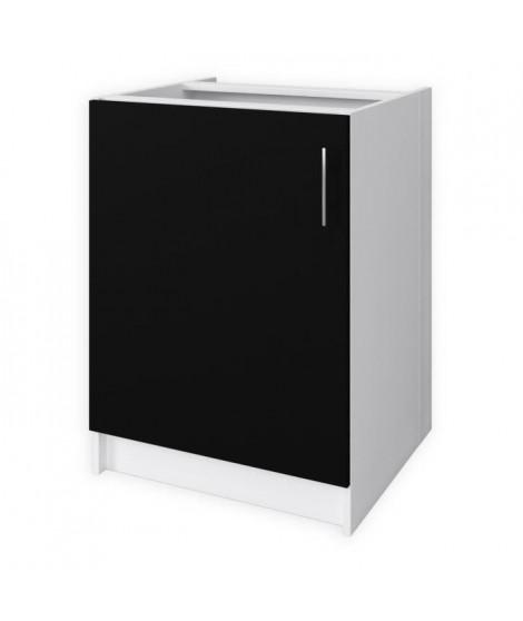 OBI Meuble bas de cuisine L60 cm - Noir mat