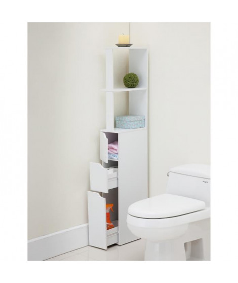 TOP Colonne de toilette L 15 cm - Blanc mat