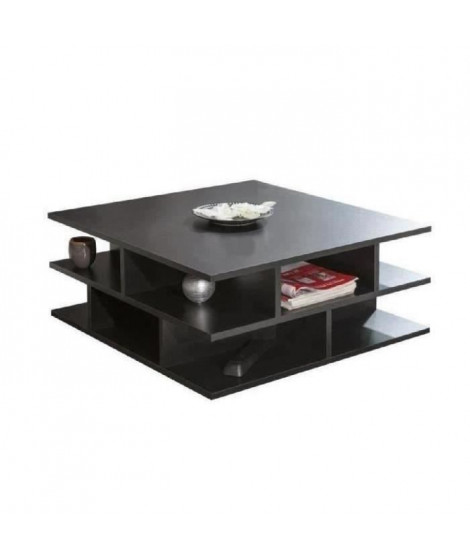 MAD Table basse multicases style contemporain noir - L 70 x l 70 cm