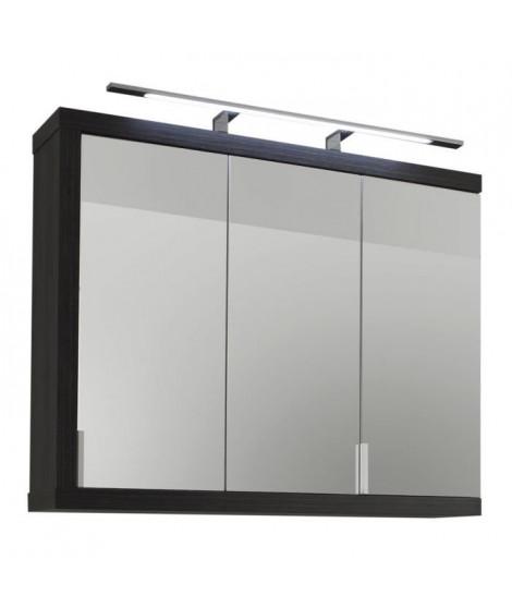 SUNRISE Armoire de toilette mélaminé L 90 cm - Gris cendré
