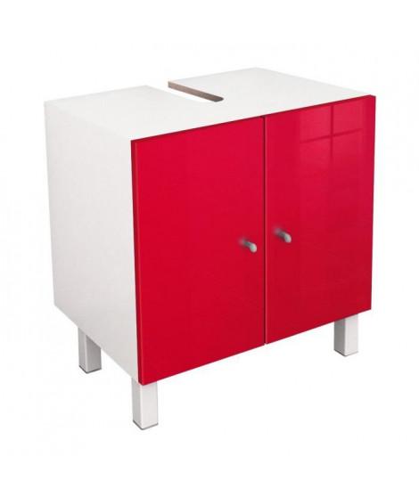 CORAIL Meuble sous lavabo L 60 cm - Rouge brillant