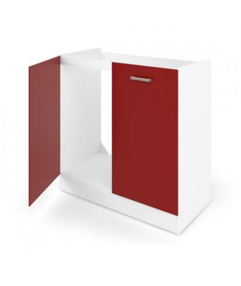 ULTRA Meuble bas sous évier L 80 cm rouge mat
