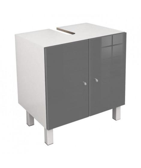 CORAIL Meuble sous-lavabo L 60 cm - Gris laqué