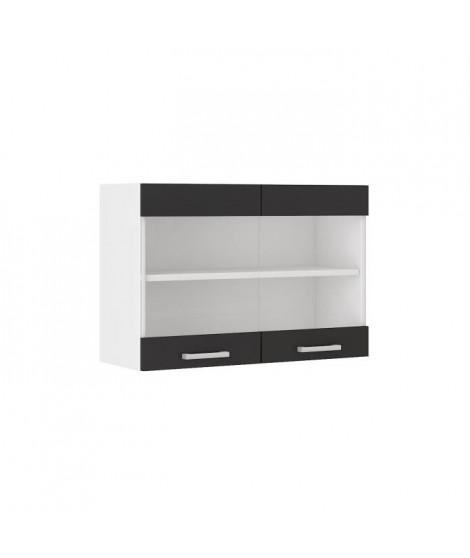 ULTRA Meuble haut de cuisine L 80 cm - Noir