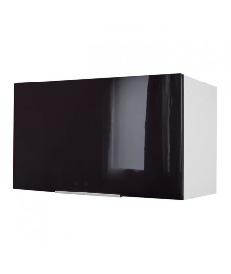 POP Meuble hotte L 60 cm - Noir Haute brillance