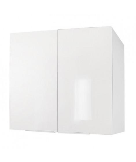 POP Caisson haut de cuisine L 80 cm - Blanc brillant