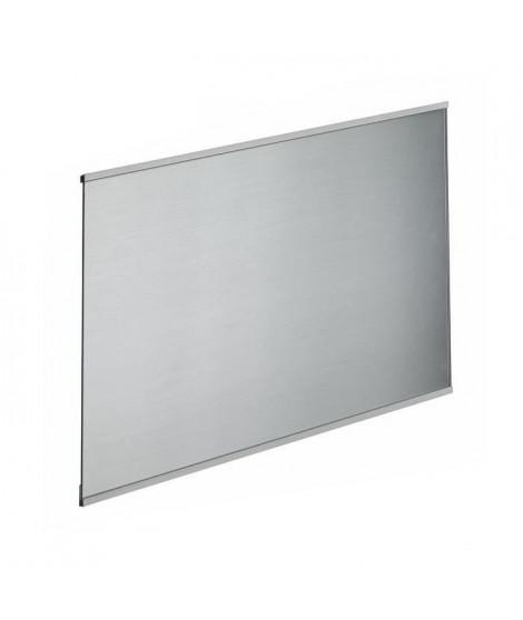 Crédence en verre de 5mm d'épaisseur style inox - 80x45cm