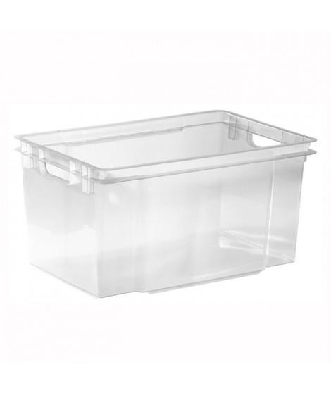 ALLIBERT Boîte de rangement transparent Crownest - Empilable - 50 L