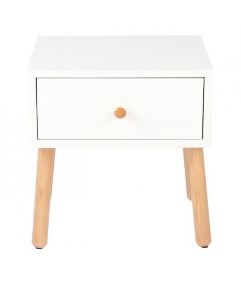 GABRIEL Chevet enfant scandinave blanc laqué - L 40 cm