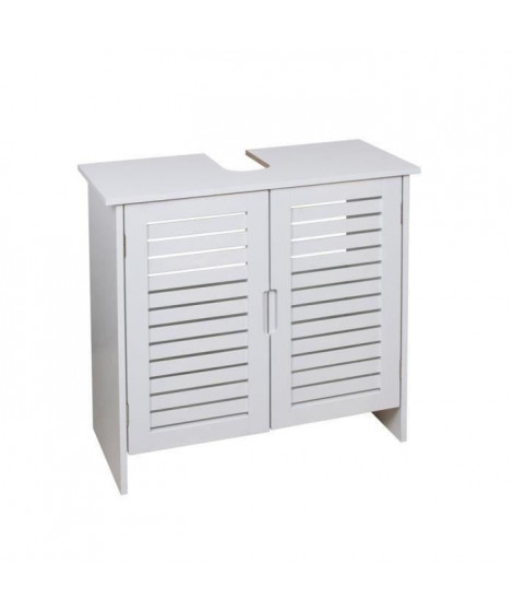 LINDA Meuble sous-lavabo L 60 cm - Blanc mat