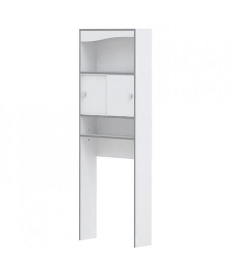 VESSA Meuble WC ou machine a laver L 64 cm - Blanc