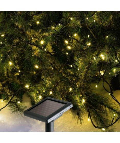 CODICO Guirlande solaire lumineuse - 96 LED - 10 m - Blanc