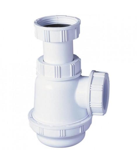 WIRQUIN Siphon de lavabo ou bidet a culot court - Sortie a visser Ø 32 mm - Réglable en hauteur