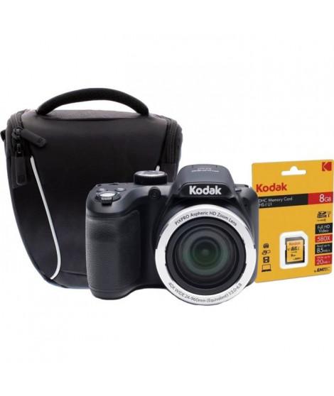 KODAK AZ401 ASTRO ZOOM Appareil photo numérique Bridge - 16 Megapixels - Zoom optique 40x + Carte mémoire SDHC 8GB + Sacoche