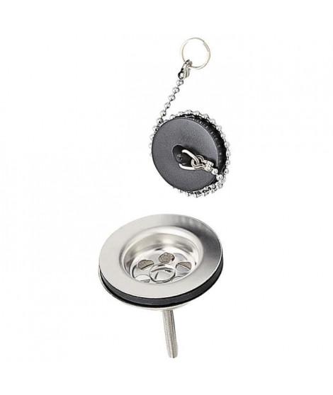 WIRQUIN Bonde de lavabo a bouchon - Laiton - Chainette avec anneau : 250 mm