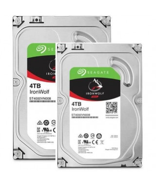 "SEAGATE Pack de 2 disques durs NAS HDD Iron Wolf 4To 3,5"" - ST4000VN008"