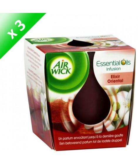 AIR WICK Bougies huile essentielle élixir orient - Lot de 3