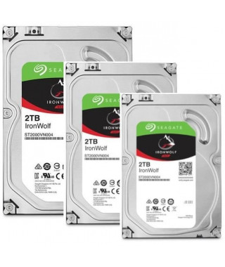 "SEAGATE Pack de 3 disque durs NAS HDD Iron Wolf 2To 3,5""  - ST2000VN004"