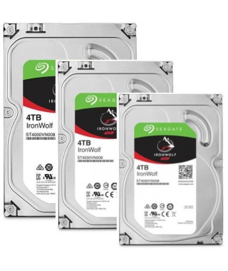 "SEAGATE Pack de 3 disques durs NAS HDD Iron Wolf 4To 3,5"" - ST4000VN008"