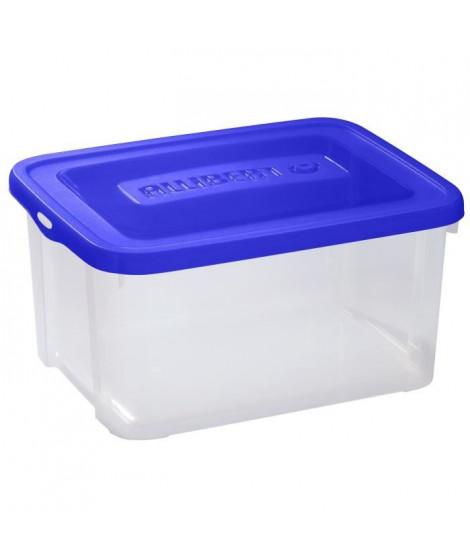 ALLIBERT Boîte de rangement Handy - Couvercle bleu - 25 L