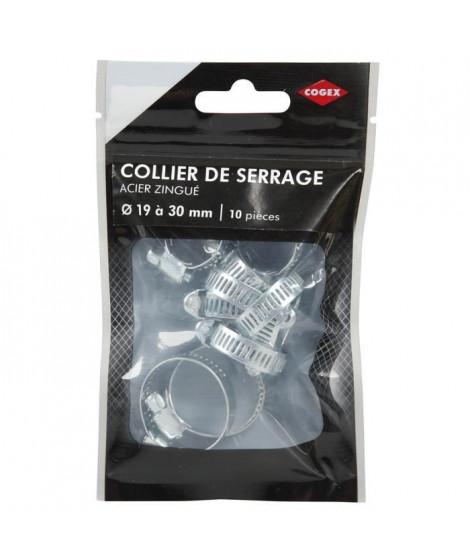 COGEX Colliers de serrage acier zingue - ø 19 a 30 mm - 10 pcs