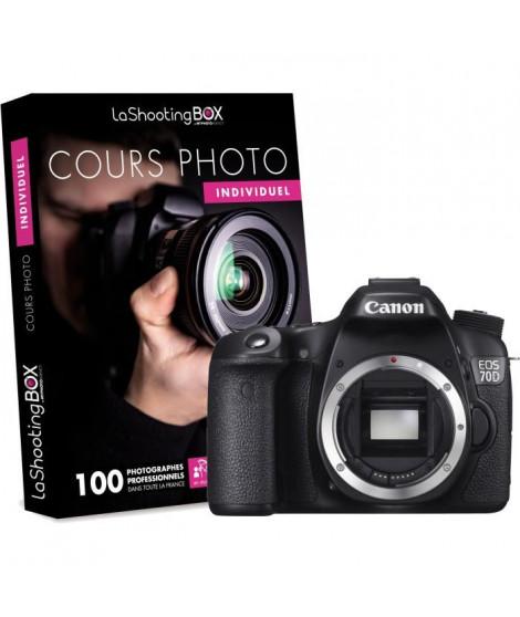 Canon EOS 70D Boîtier Nu - 20,2 millions de pixels - WiFi + Cours photo LaShootingBox avec un photographe professionnel