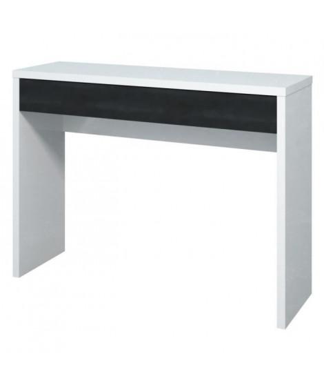 ARENA Console style contemporain blanc et noir brillant - L 109 cm