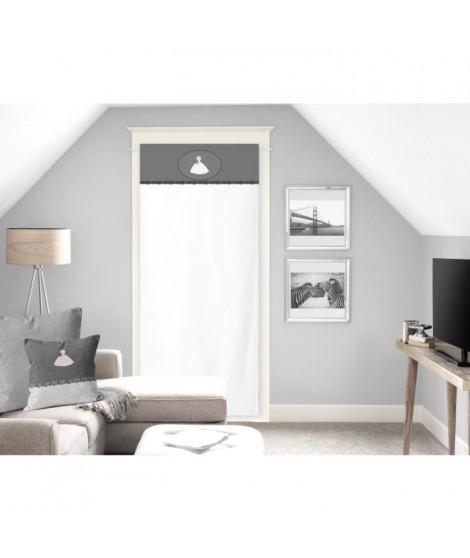 SOLEIL D'OCRE Brise bise Anais 100% Coton 70x200 cm - Gris et Blanc