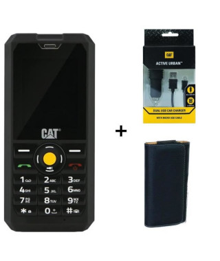 Caterpillar Cat B30 Dual Sim Anti-Choc + Chargeur Allume-Cigare + Housse Universelle