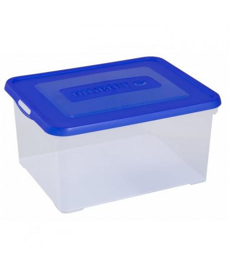 ALLIBERT Boîte de rangement Handy - Couvercle bleu - 35 L