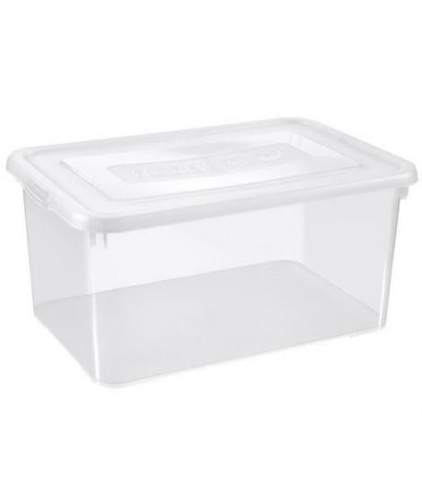 ALLIBERT Boîte de rangement Handy - Couvercle transparent - 50 L