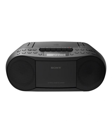 SONY - Boombox CD/Tuner / cassettes-Radio AM/FM-Sortie RMS stéréo 2 x 1,7 W-Lecture de CD-R/RW et CD mp3