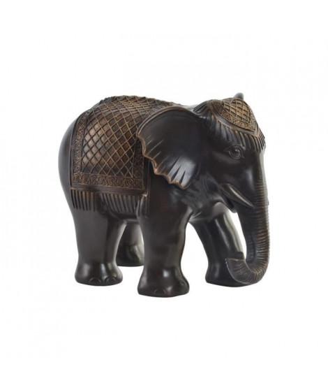 Figurine Eléphant en résine - 29,5 x 21,5 x 23 cm - Noir