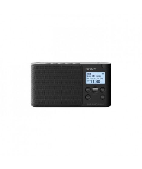 SONY - Radio portable DAB/DAB+ - Préréglages directs - Réveil et mise en veille programmable - Noir