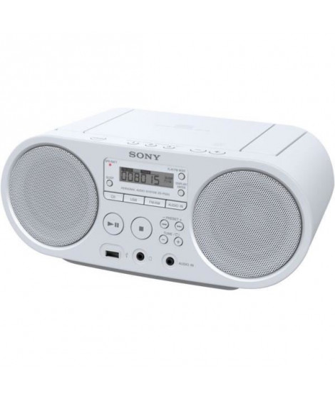 SONY - Boombox CD USB - AM-FM - Blanc