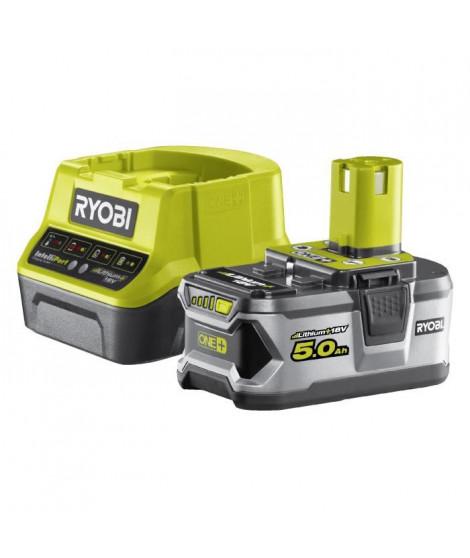 RYOBI Batterie 18V 5Ah + Chargeur 2A
