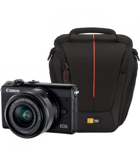 CANON EOS M100 Appareil photo Hybride - Noir + EF-M 15-45 mm IS STM + Sacoche pour Reflex