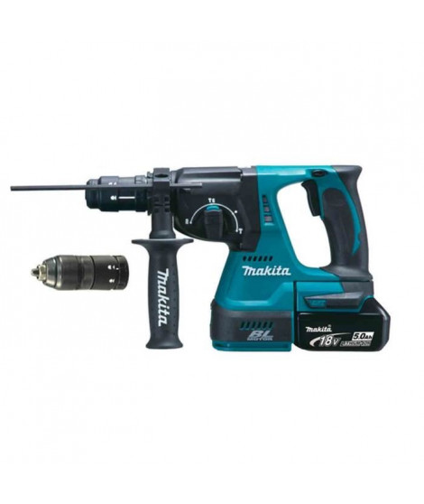 MAKITA Perforateur burineur SDS plus Brushless 2J DHR243RTJ - Avec 2 batteries 18 V, mandrin interchangeable et coffret Makpac