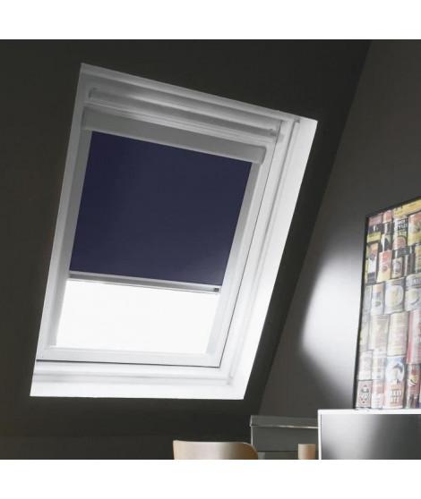 Store de fenetre de toit occultant VELUX C02/C04 - L.55 x H.98 cm, recoupable a 78 cm - Bleu