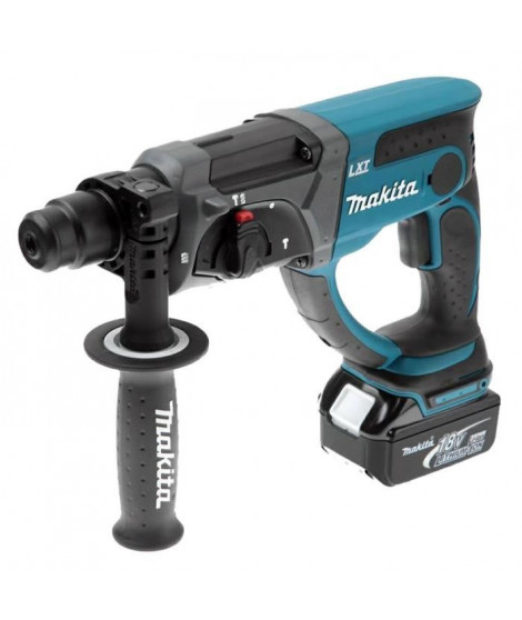 MAKITA Perforateur burineur SDS plus 2J DHR202RTJ - Avec 2 batteries 18 V et coffret Makpac