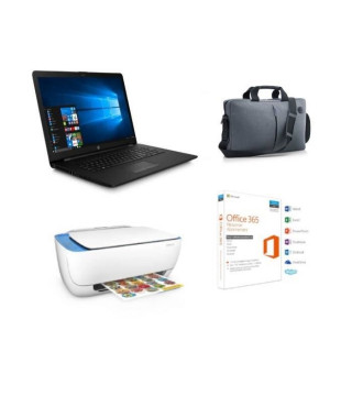 """Pack PC Portable HP 17.3"""" 17-bs061nf - Intel Celeron - Ram 4Go - Stockage 500Go + Imprimante + Office 365 Perso + Sacoche off…"""