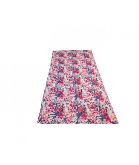 SOLEIL D'OCRE Fouta Flamand - Rose - Coton doublé éponge - 100x200 cm - Rose