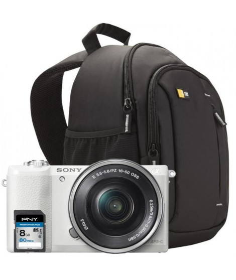SONY A5100LW Appareil Photo Hybride + Carte mémoire SDHC 8Go + Sac a dos