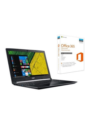 """ACER PC Portable Aspire A515-51-56VN 15,6"""" FHD - RAM 6Go - i5-7200U - Stockage 128Go SSD + 1To HDD - HD Graphics 620 + Office…"""