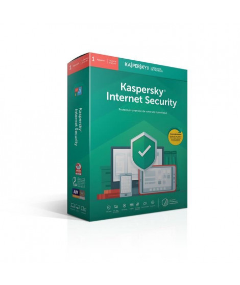KASPERSKY Internet Security 2019, 1 poste, 1 an