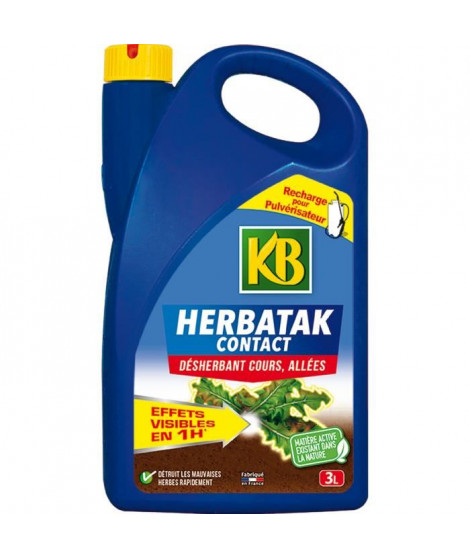 KB Désherbant Herbatak Contact recharge - 3 L